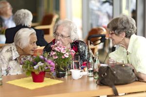 Sommerfest - Seniorinnen im Gespräch